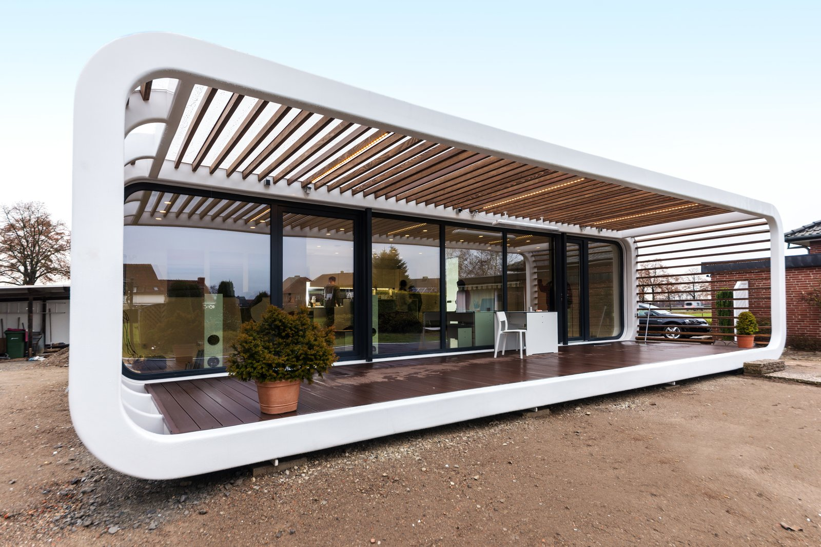 Exterior and Prefab Building Type Residential installation of Coodo 64 in Bielefeld, Germany.  Photo 1 of 12 in Meet the Prefab Unit That's Smart, Mobile, and Sustainable