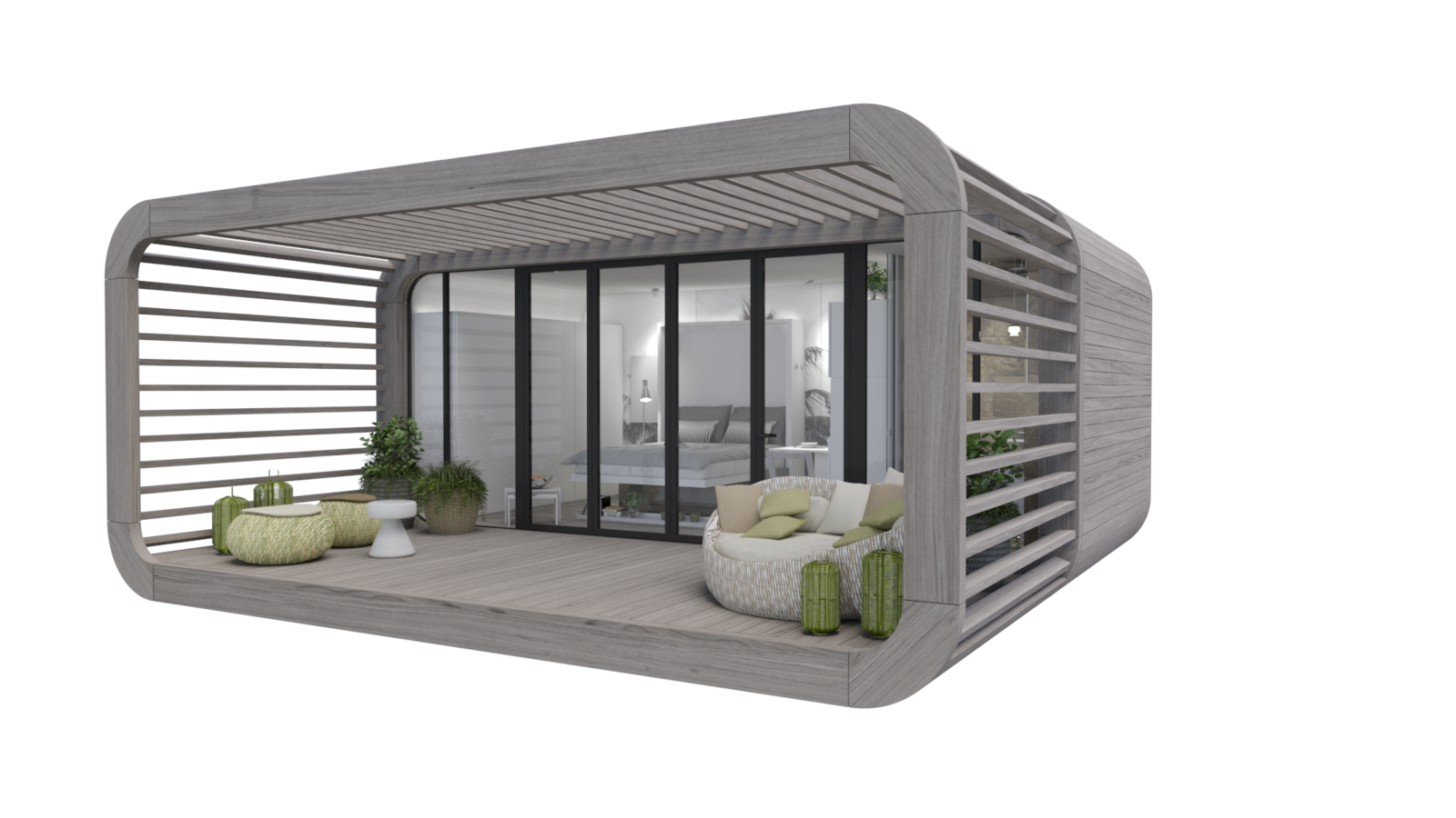 Exterior and Prefab Building Type The newest model, Coodo 23, is currently underdevelopment and will feature a 248 sq foot floor plan.  Photo 7 of 12 in Meet the Prefab Unit That's Smart, Mobile, and Sustainable