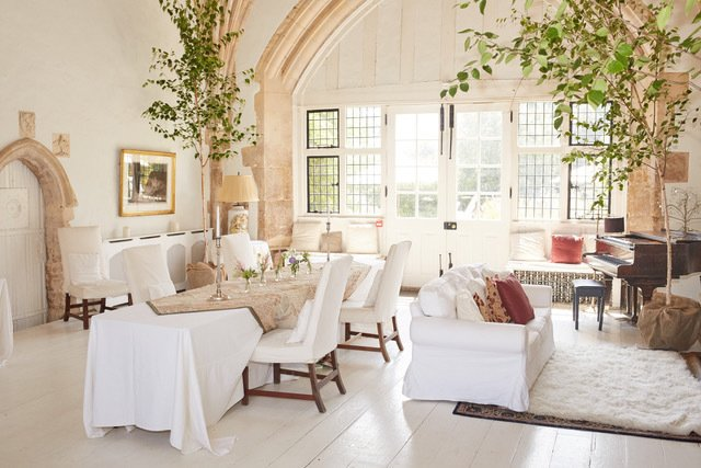 Living Room, Sofa, and Chair Butley Priory, UK   Photo 5 of 10 in 10 Modern Wedding Venues That Will Make Your Big Day Unforgettable from Wedding Round-Up
