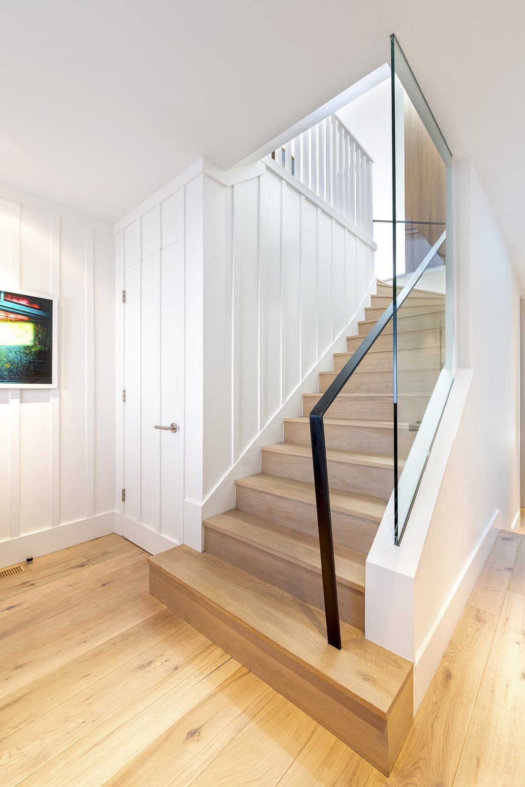 Staircase, Wood Tread, and Metal Railing Main Entry  Precita Park Residence by Studio Sarah Willmer, Architecture