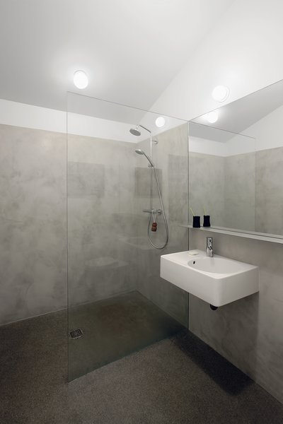 A clean and simple bathroom add to the modern feel of the space.