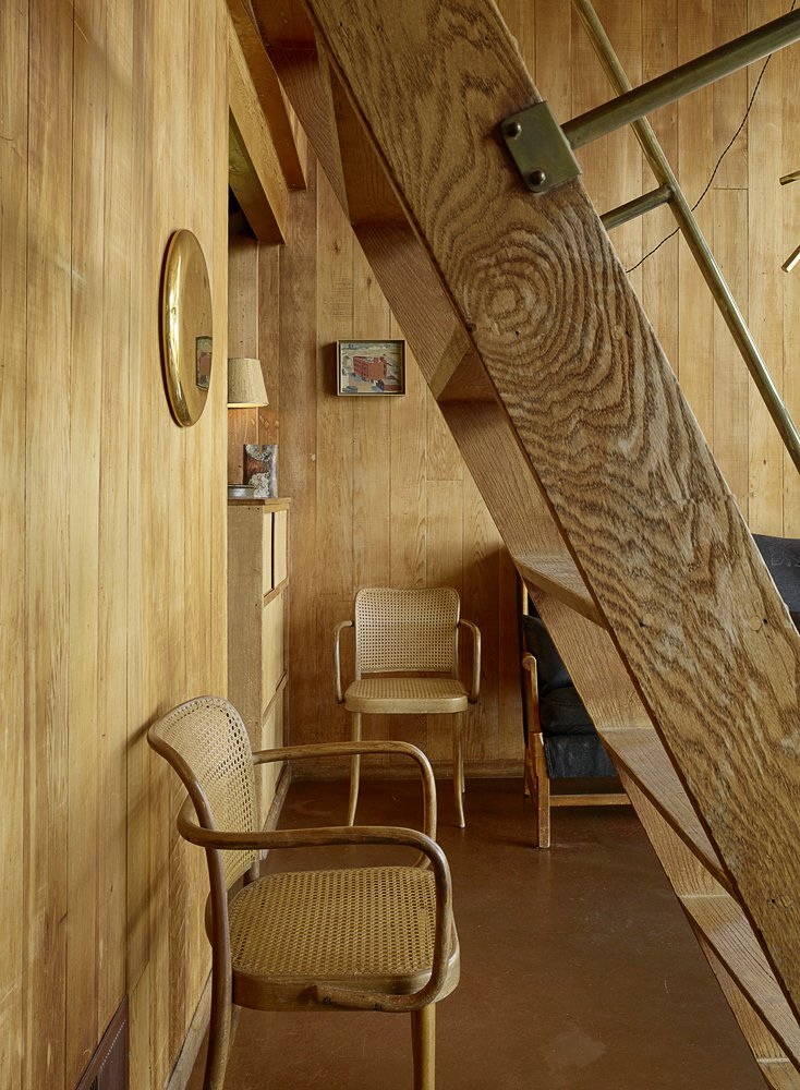 Staircase, Wood Tread, and Wood Railing Photography by Matthew Millman  Photos from The Emmons House