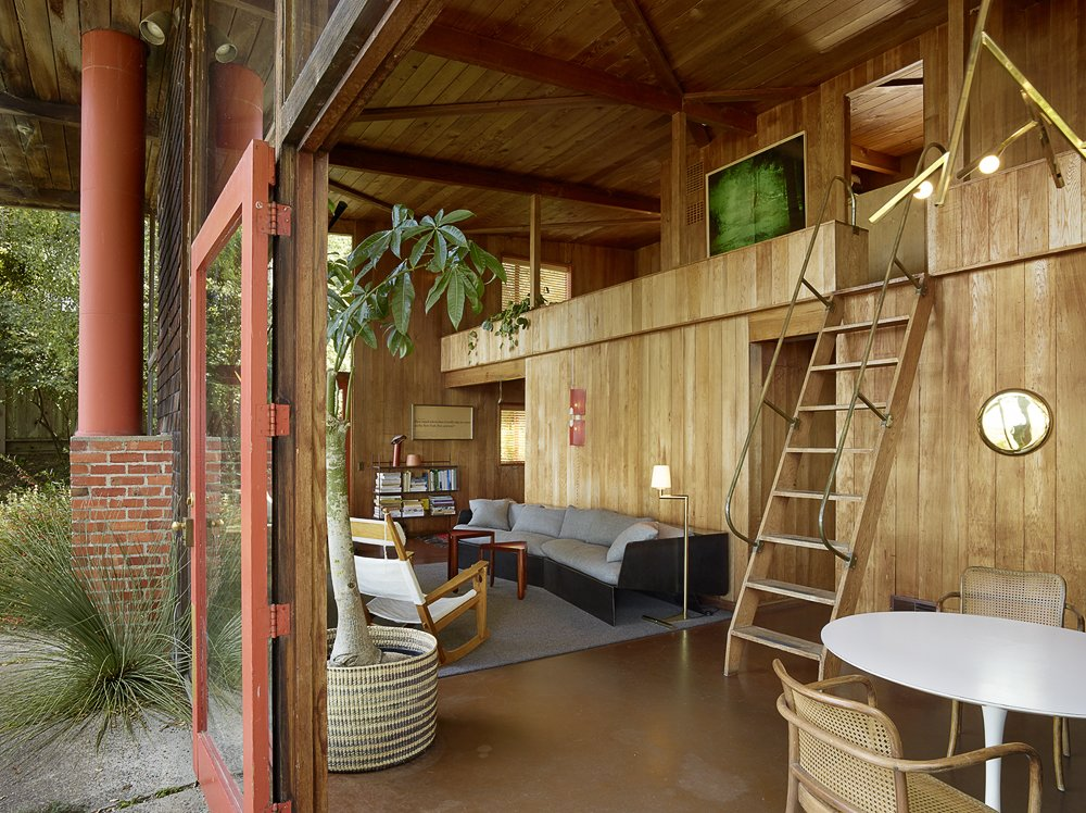 Living Room, Light Hardwood Floor, and Sofa Photography by Matthew Millman  The Emmons House