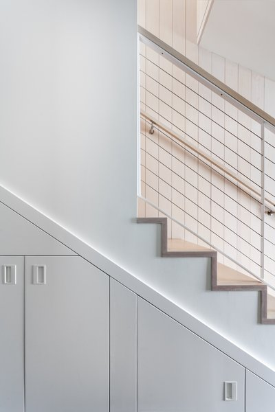 Stairs Tagged: Bed, Table, Night Stands, White, Ceramic Tile, Sofa, Coffee Tables, End Tables, Bar, Wood, Wood, Cable, Porcelain Tile, Carpet, Metal, Porcelain Tile, Open, Two Piece, Pendant, and Staircase.  Best Staircase White Table Photos from Tahoe Lakefront