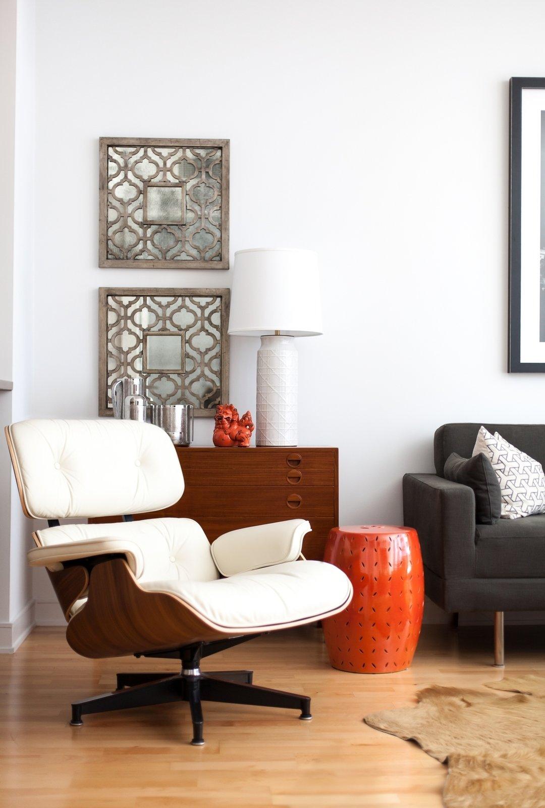 Chair, Floor Lighting, Sofa, End Tables, Coffee Tables, Medium Hardwood Floor, and Living Room Living  Tower Condo