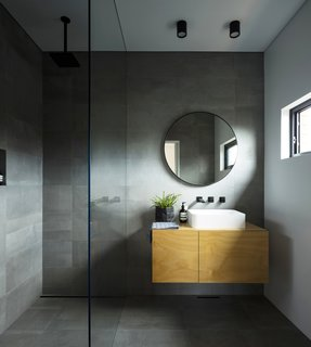 The ensuite bathroom located towards the front of the original dwelling's footprint