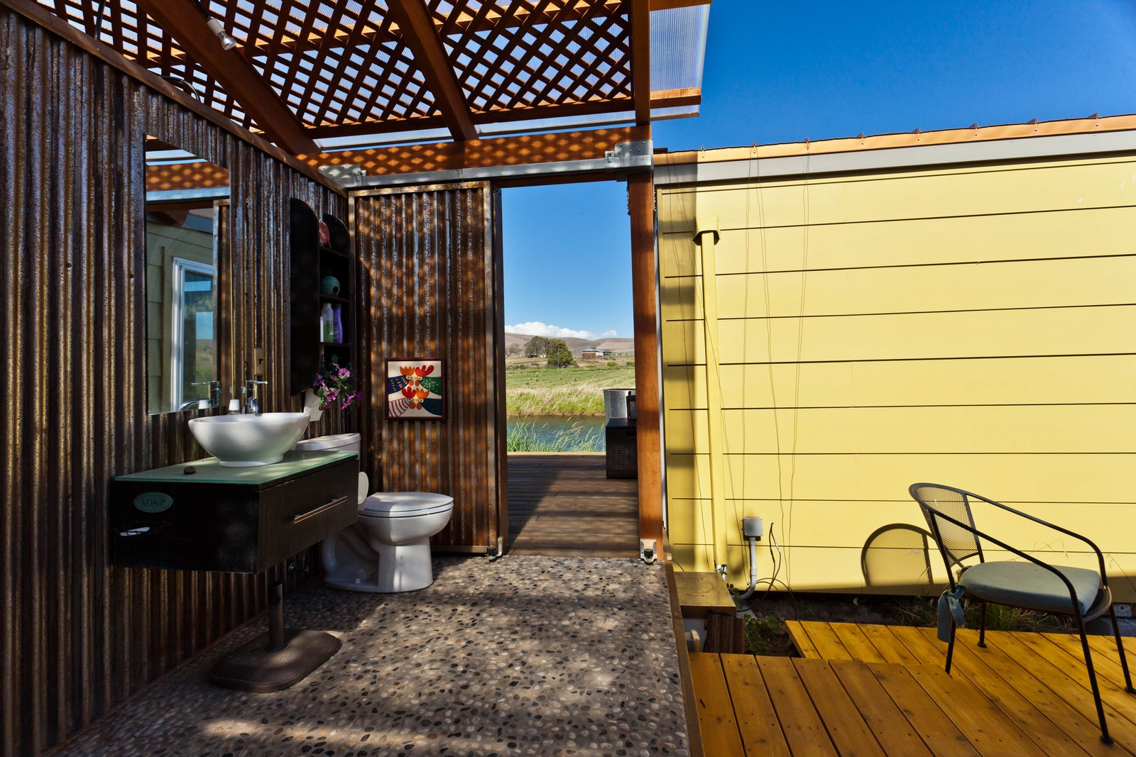 Indoor-outdoor living at its finest!  Modern-Shed Ellensburg Farm Shed Complex by Modern-Shed, Inc