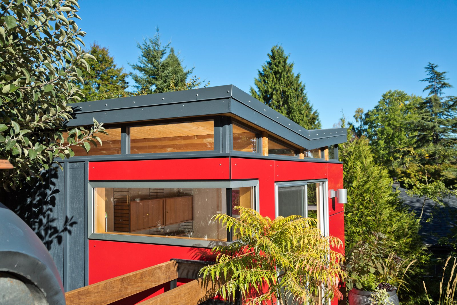 The perfect blend of indoor-outdoor living  Modern-Shed Butterfly Roof by Modern-Shed, Inc