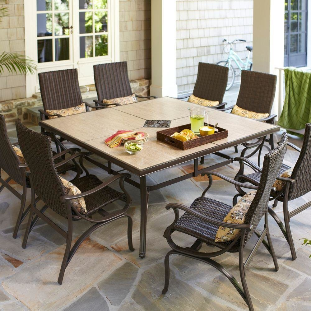 #homedepot #outdoorliving #large #diningset #pembrey #lumbar #pillows  Outdoor Living