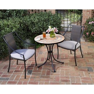 #homedepot #outdoorliving #patio #bistro #set #taupecushions #tiletop #table