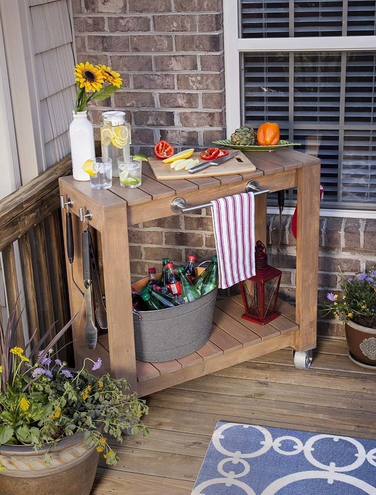 #DIY #homedepot #rolling #table #storage #convenience   Do It Yourself