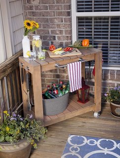 #DIY #homedepot #rolling #table #storage #convenience