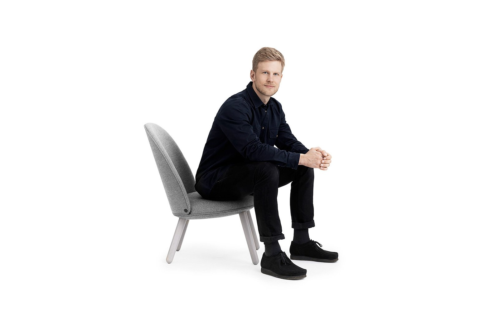 Designer Hans Hornemann on the Ace Lounge Chair.  Photo 3 of 10 in All Eyes on Ace