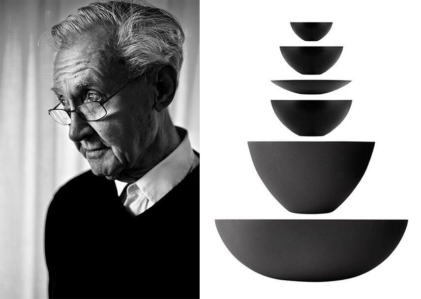 The Danish material researcher Herbert Krenchel and the Krenit series in six different sizes.  Photo 2 of 6 in The Story of an Extraordinary Bowl