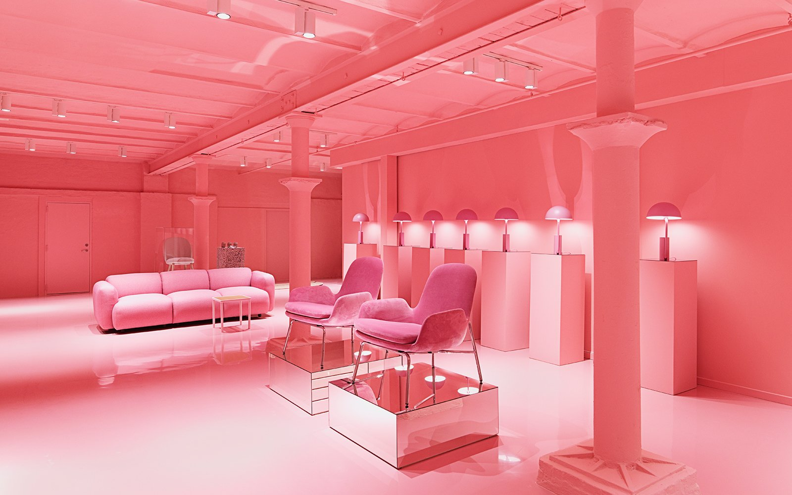 An explosion of pink in the first edition of the Gallery.  Photo 13 of 13 in Normann Copenhagen's Revamped Showroom and Flagship Store