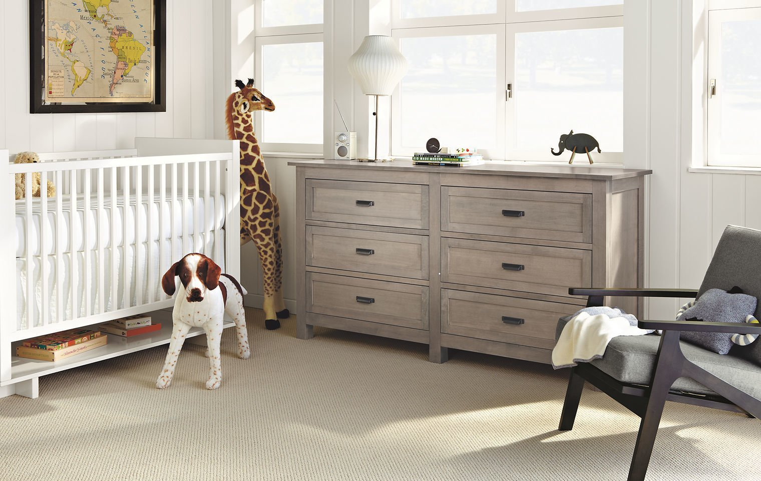 The Bennett bedroom furniture collection is based on a 19th-century French cabinet we discovered in an antique shop. Featuring quality craftsmanship by Pennsylvania woodworkers, Bennett is an updated twist on a classic design and is built to last.  #madeinamerica #furniture #nursery   Photo 4 of 19 in 23 Cool Cribs for the Modern Baby from Modern Kids & Nursery Furniture