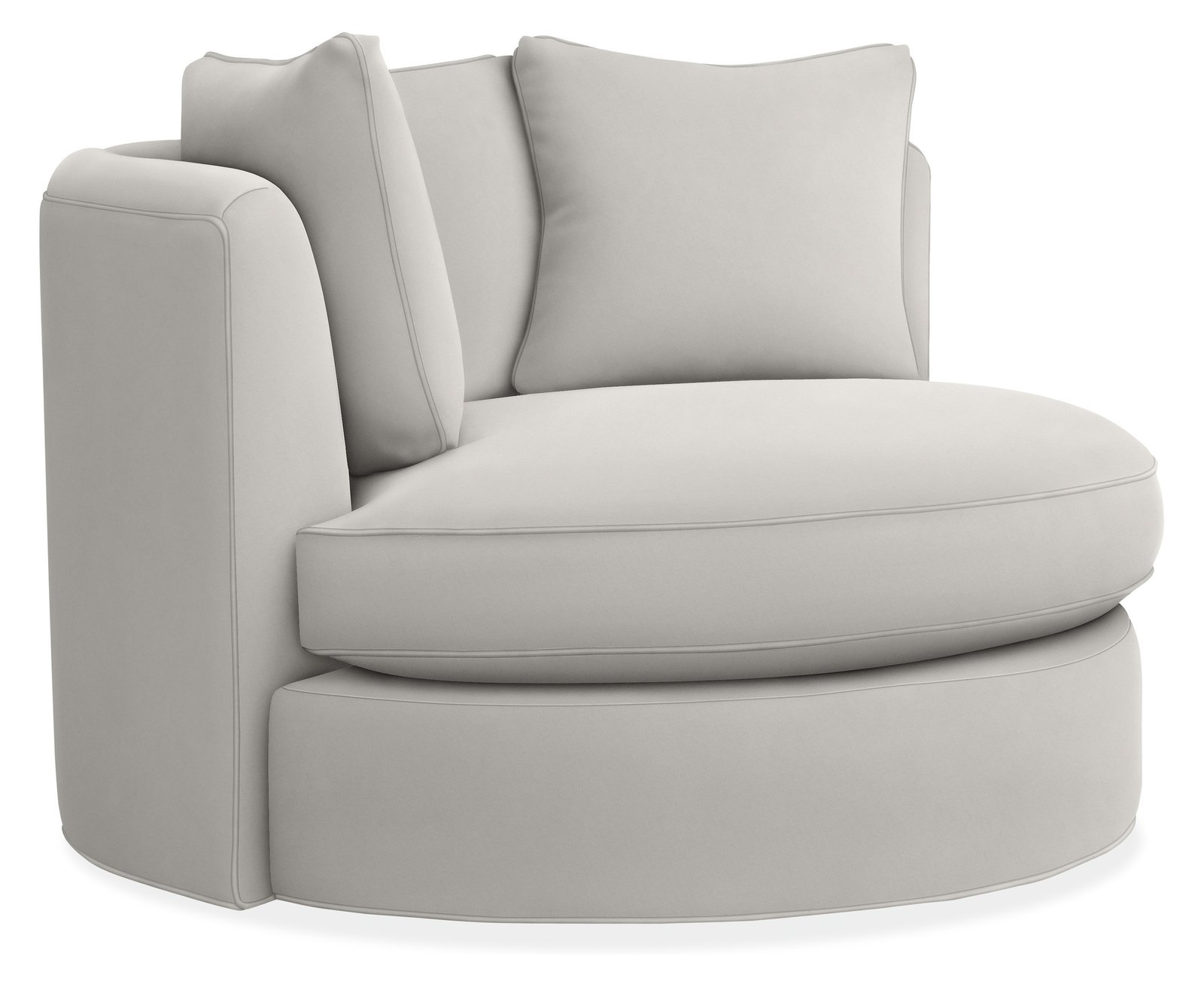 """This unique chair was made for movie nights and great books. The generous scale of Eos is indulgent for one, and a cozy island for two. The luxuriously deep seat and plush cushions envelop you in comfort. #furniture #madeinamerica   Search """"Eos"""" from Modern Accent Chairs"""