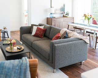Cade sofa and Slim cocktail table