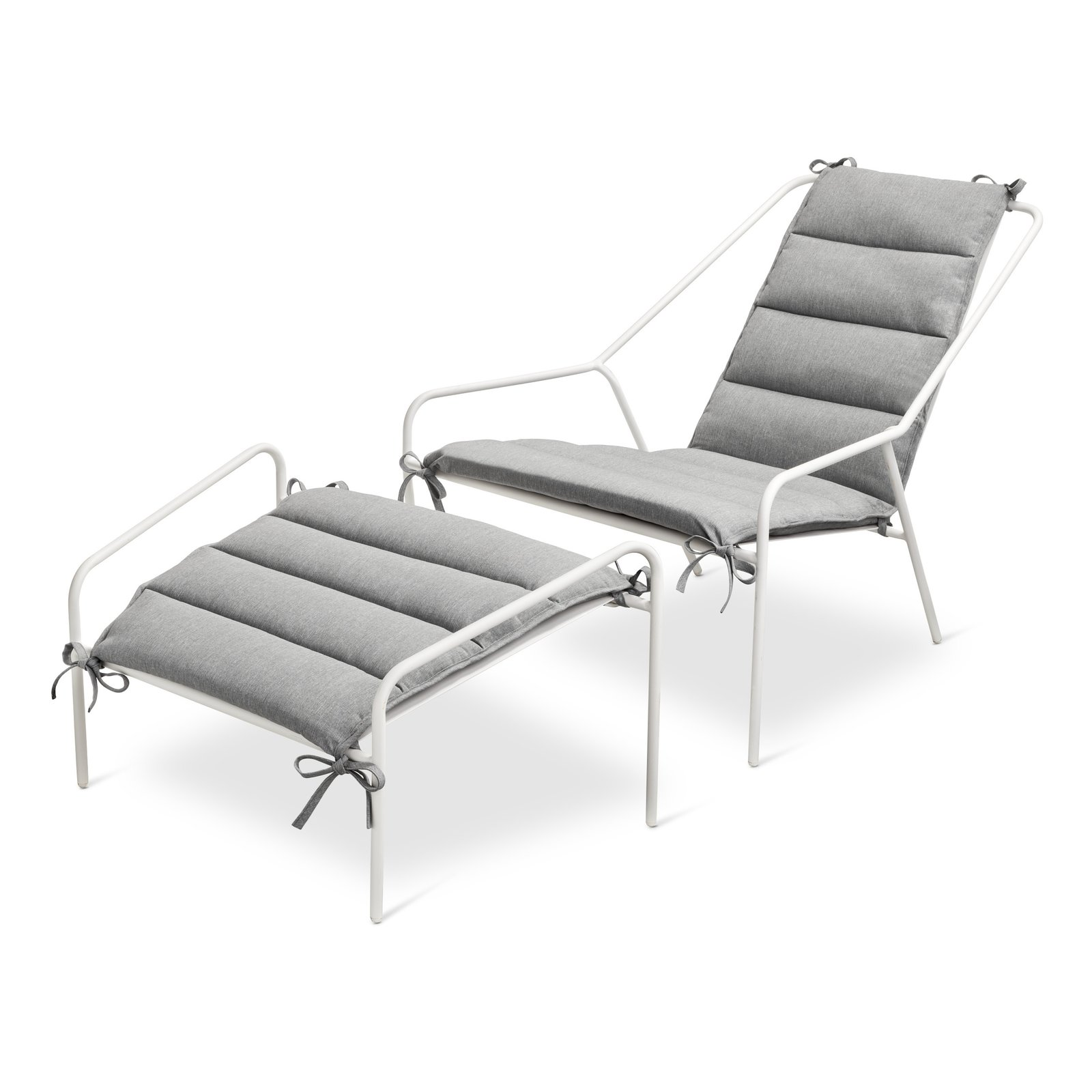 Posture Chair and Ottoman Set, $269.99, available in gray, orange, or white; Cushion, $79.99, available in gray or navy; designed by Chris Deam and Nick Dine for Modern by Dwell Magazine for Target   Photo 11 of 17 in Modern by Dwell Magazine: Outdoor Collection