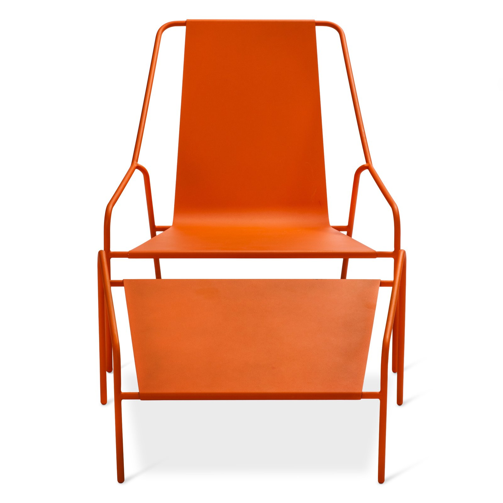 Posture Chair and Ottoman Set, $269.99, available in gray, orange, or white; designed by Chris Deam and Nick Dine for Modern by Dwell Magazine for Target   Photo 9 of 17 in Modern by Dwell Magazine: Outdoor Collection