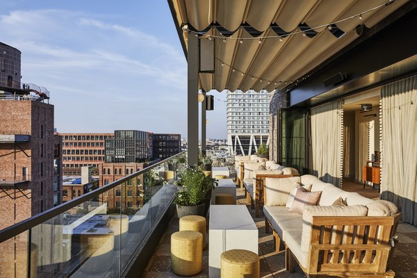 Summerly, which overlooks the Williamsburg neighborhood, is a favored hangout for hotel guests and locals alike.