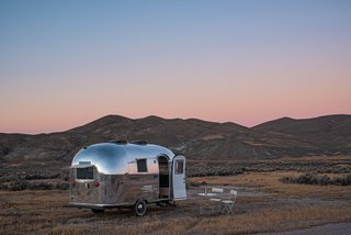 The Airstream, with its curved aluminum exterior, is an iconic midcentury design.
