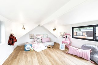 The loft area accommodates a small or large-size bed and is flooded with plenty of sunlight.