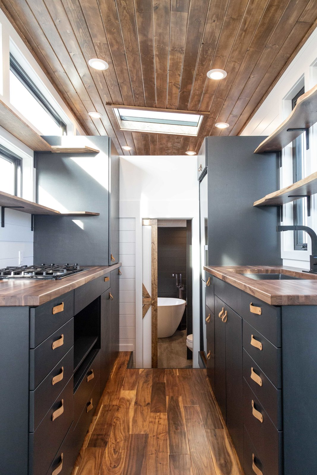 Liberation Tiny Homes Stoltzfus Gooseneck kitchen