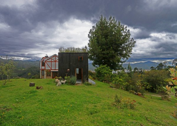 Architect Alfonso Arango designed a 258-square-foot retreat with a green roof on the property of his childhood home in La Calera, Colombia.
