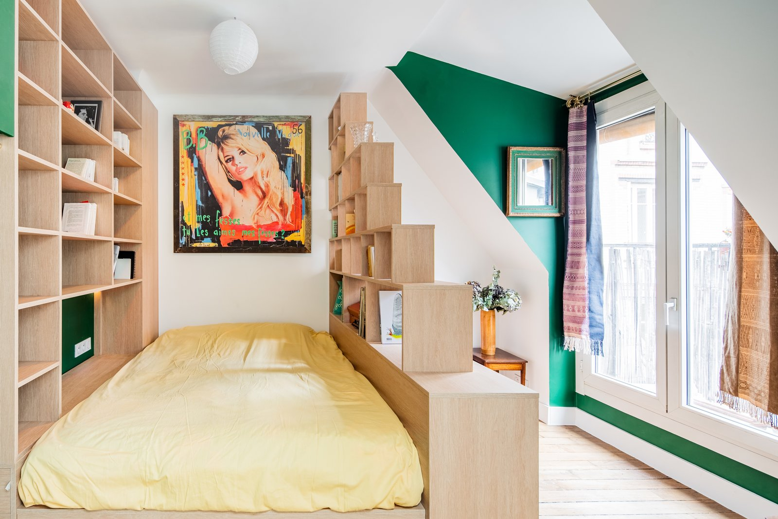 Before & After: This Hip Parisian Apartment Makes the Most of 193 Square Feet