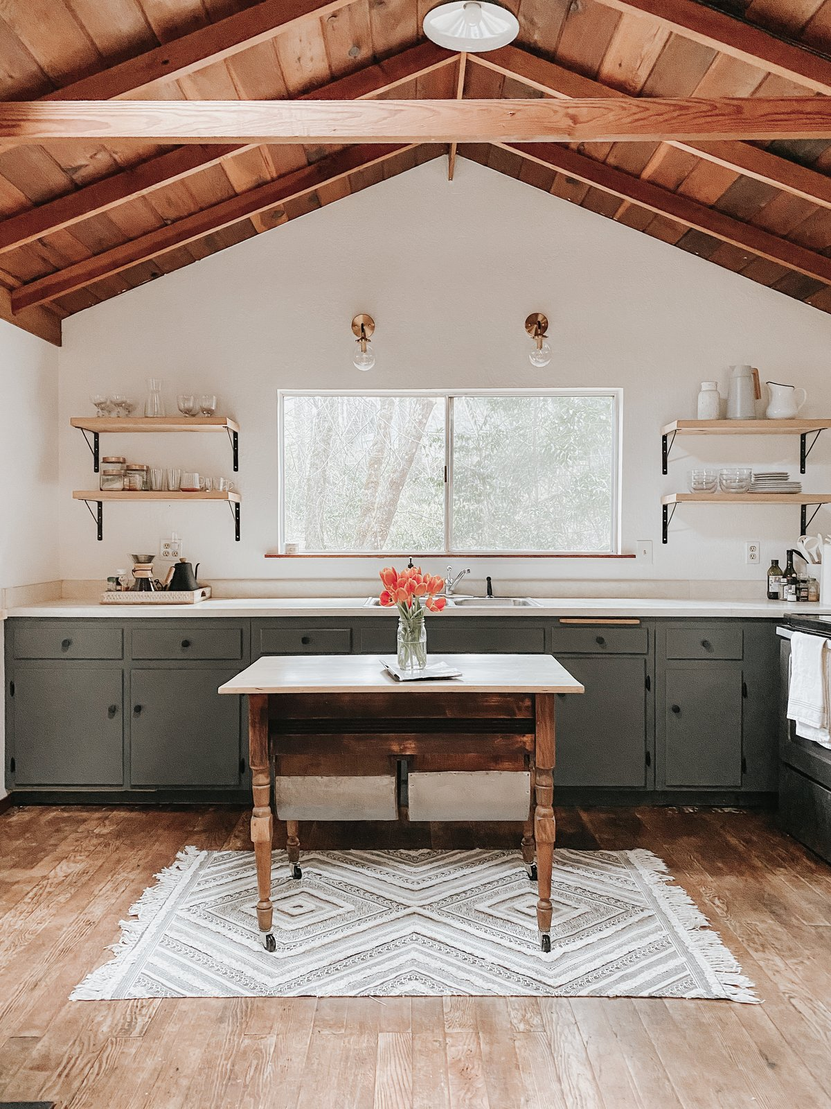 Photo 1 Of 4975 In Kitchen Photos From Before After A Dreary Woodland Cabin Gets A Sparkling Update For 20k Dwell