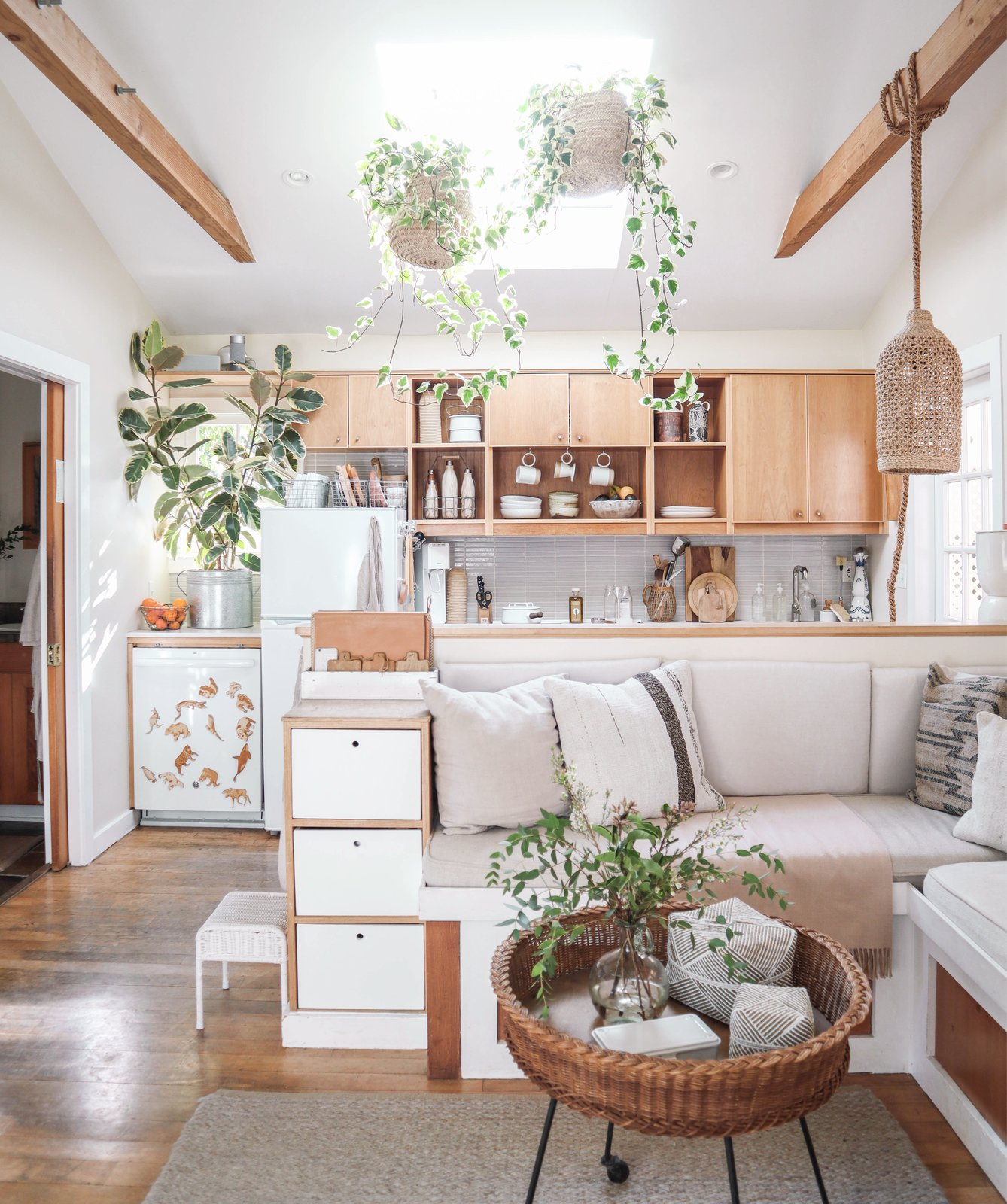 Tiny Canal Cottage by Whitney Leigh Morris living room