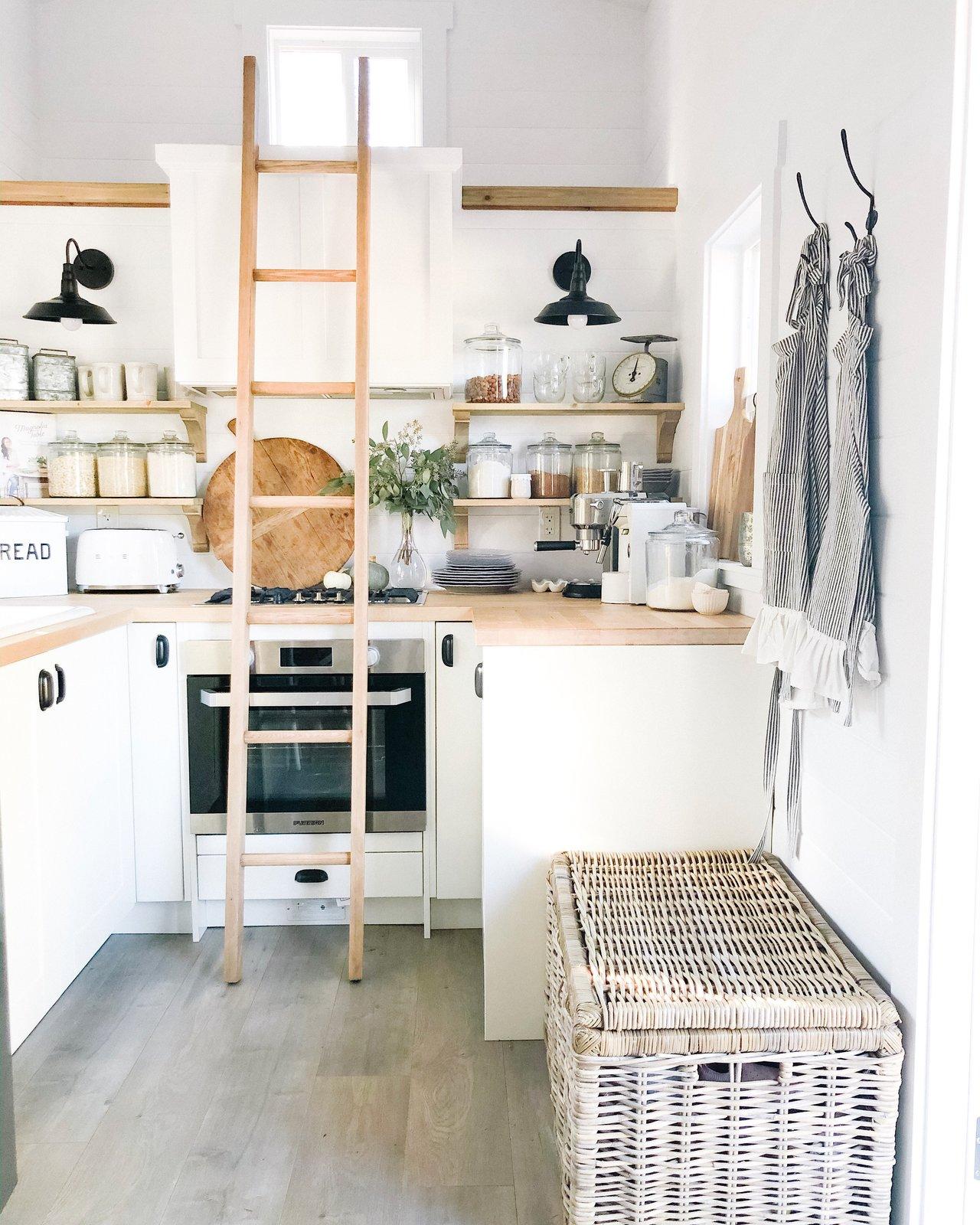 White Country Tiny House kitchen