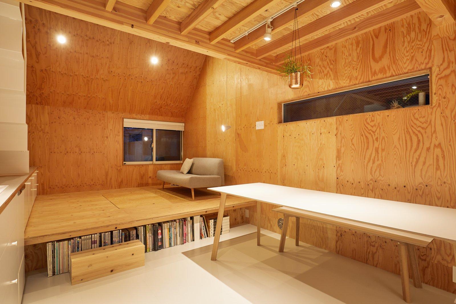 Milk Carton House Tenhachi Architect and Interior Design living room