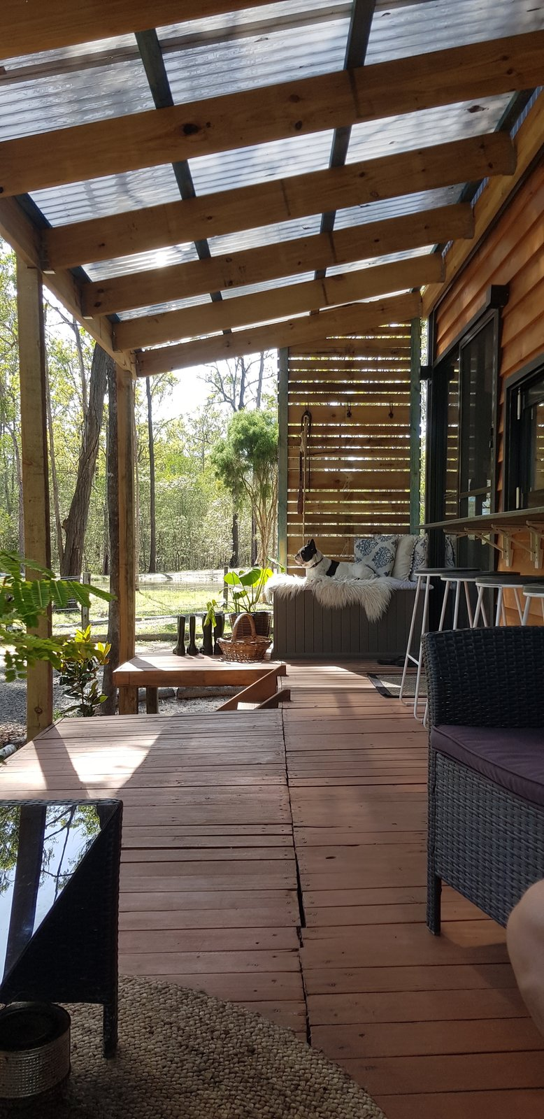 Life Done Simple Tiny House deck