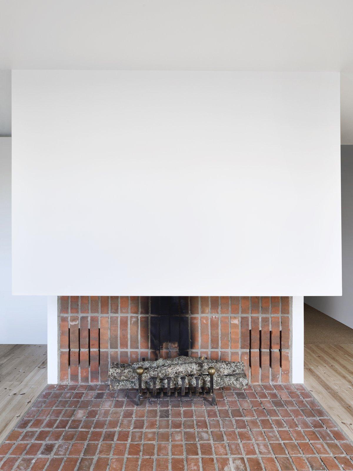 Bollbacken by Soderberg Soderberg brick fireplace