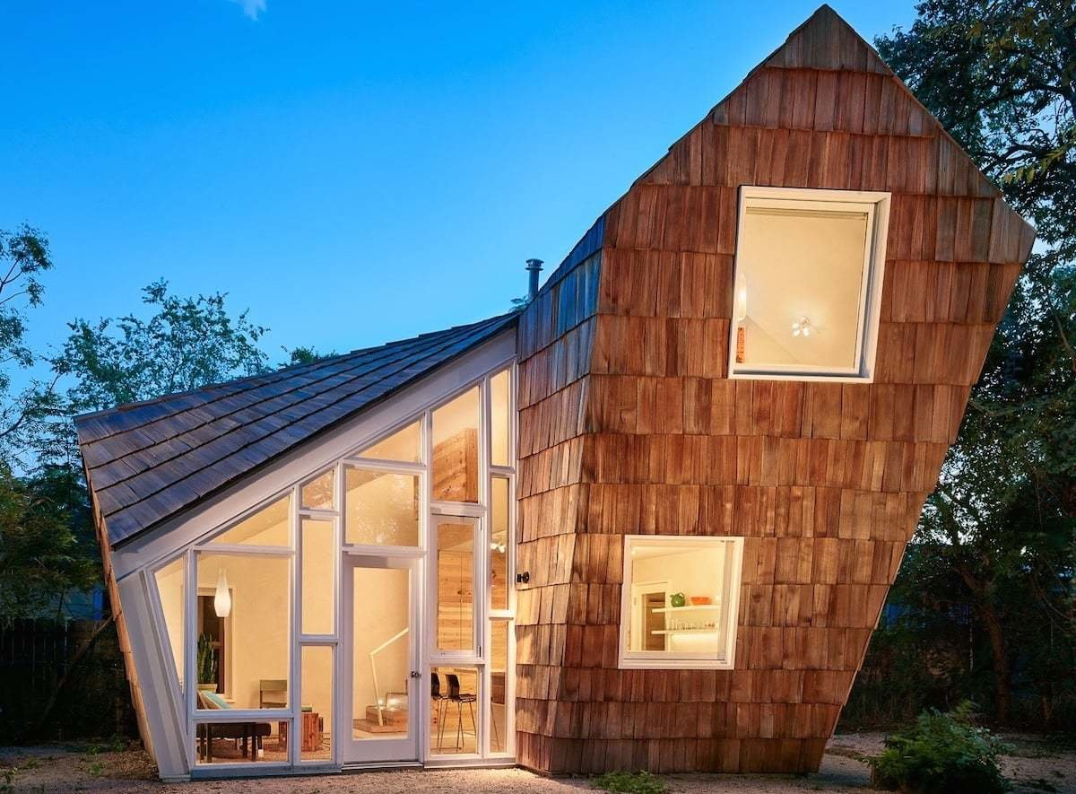 The design for East Side Beehive in Austin, Texas, was inspired by Japanese teahouses.  Photo 12 of 24 in Check Out These 23 Tiny Houses Perfect for an Autumn Getaway
