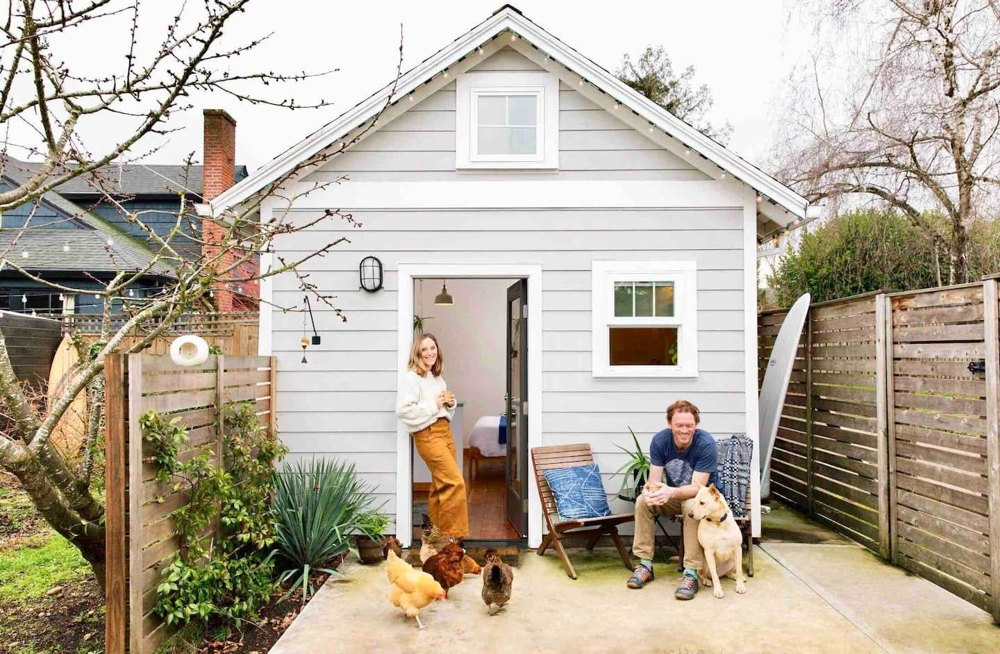 Portland Tiny House is complete with access to a backyard chicken coop and fresh eggs.  Photo 24 of 24 in Check Out These 23 Tiny Houses Perfect for an Autumn Getaway