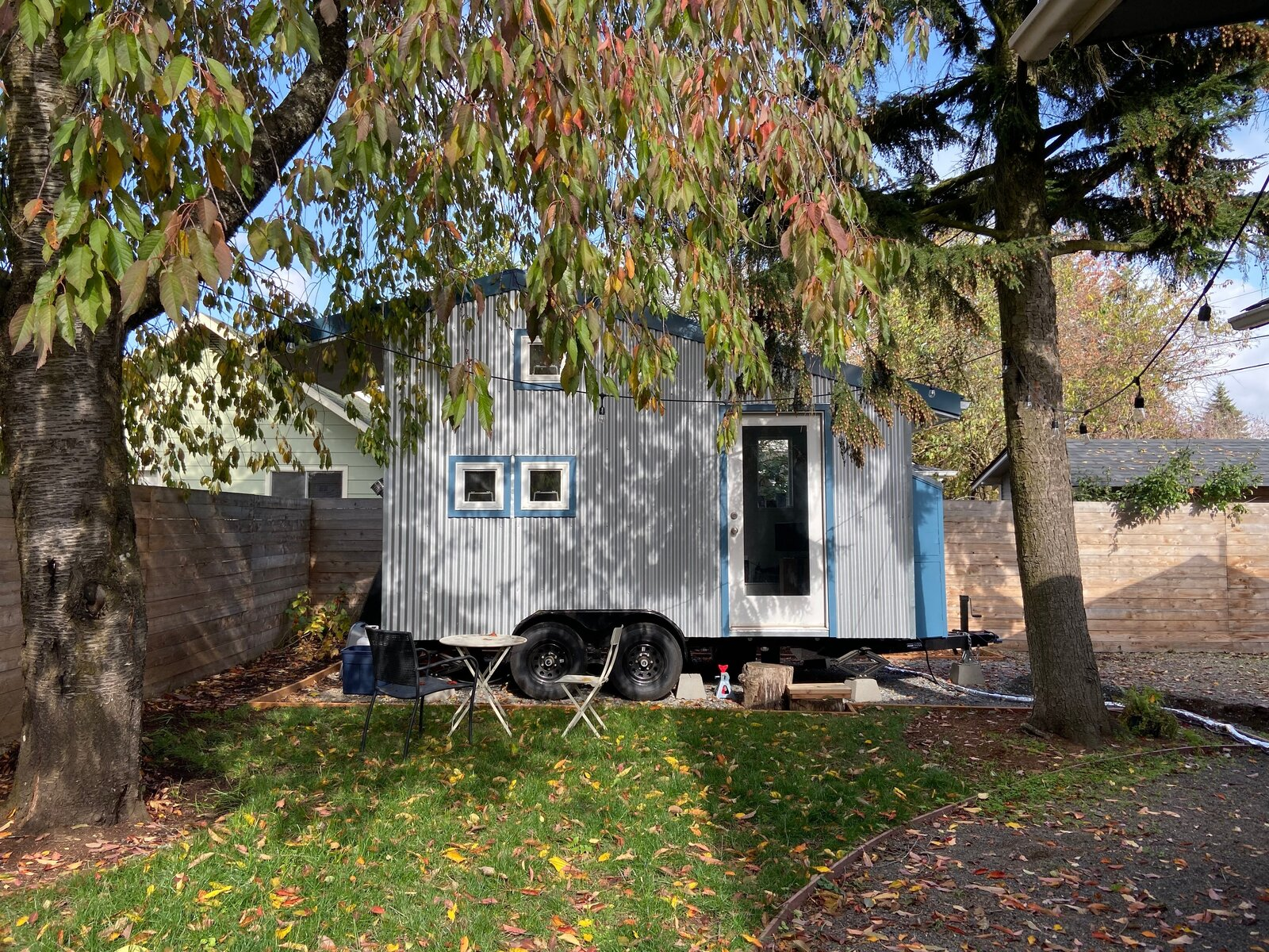 Exterior, Saltbox RoofLine, Metal Siding Material, and Tiny Home Building Type Backyard Tiny House's factory-assembled mobile tiny homes on wheels offer almost 250 square feet of living space.  Photo 3 of 5 in These 5 Companies Want to Build a Tiny House in Your Backyard for Free