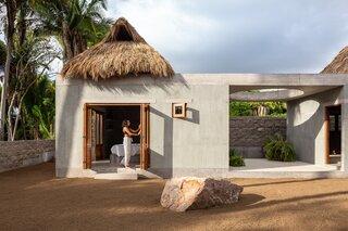 Folding doors create an indoor/outdoor experience.