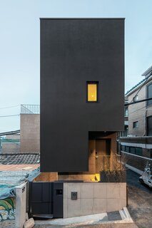 Architect TaeByoung Yim designed a compact residence in Seoul, Korea, with designated space for studying and entertaining.