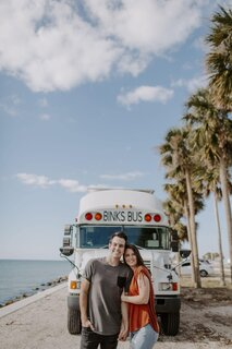 An Adventure-Ready Couple Turn a 1998 Skoolie Into the Home of Their Dreams