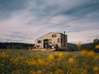 This Norwegian Wood–Wrapped Tiny Home Was Built for Freedom
