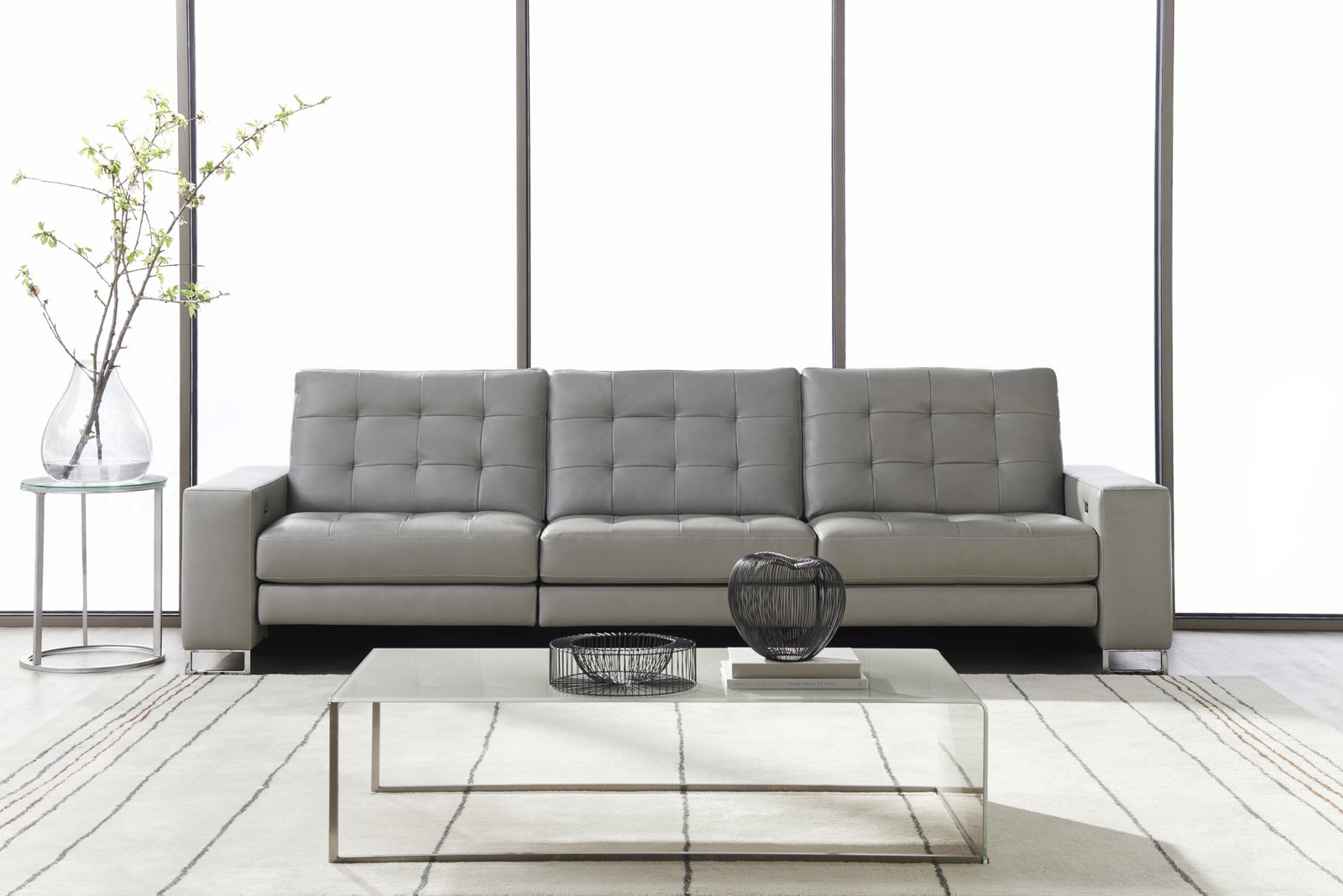 HUDSON - Buttonless tufting and polished chrome legs give Hudson a refined, sophisticated look.  STYLE IN MOTION®