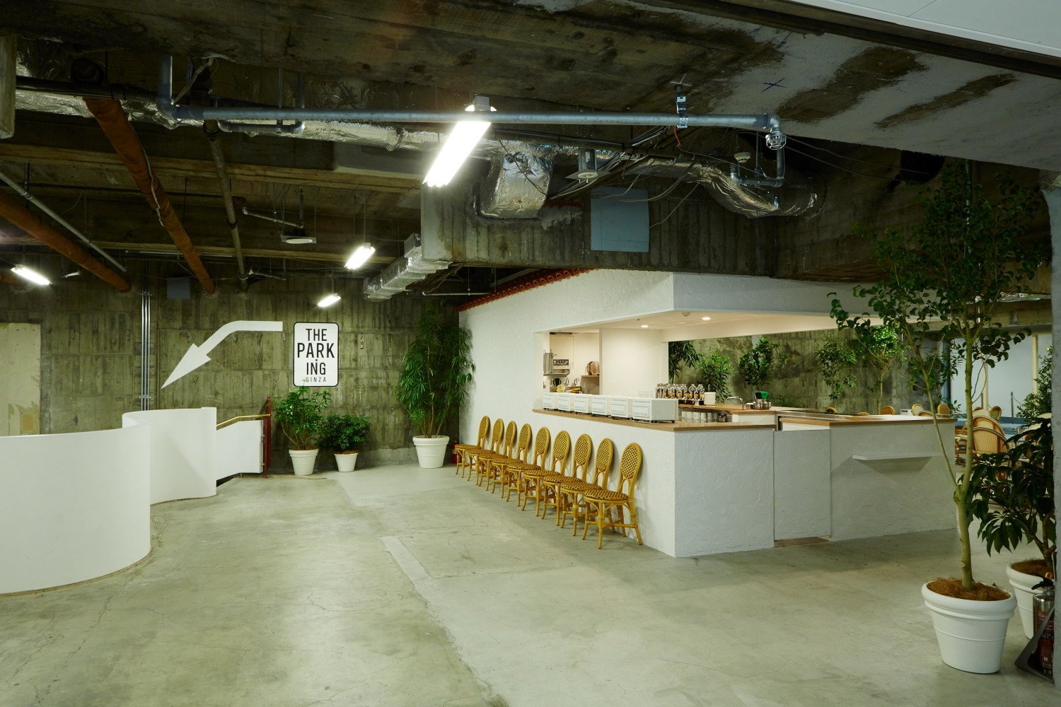 A cafe and record shop welcome visitors to the first level on the subterranean shopping experience Park-Ing Ginza.  Photo 9 of 10 in 9 Inspirational Examples of Adaptive Reuse
