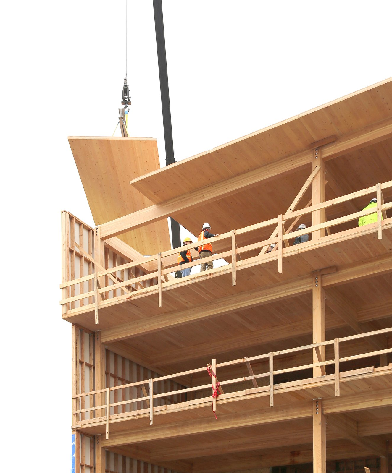 LEVER Architecture has found a niche working with CLT.  Photo 2 of 9 in Albina Yard—Pioneering the Future of Sustainable Mass Timber Construction
