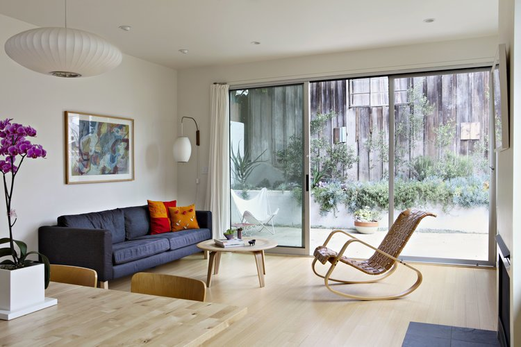 Bright and airy interiors.  Photo 14 of 15 in Eco-Friendly Prefabs and the Modern Mobile Home: Spotlight on Jennifer Siegal