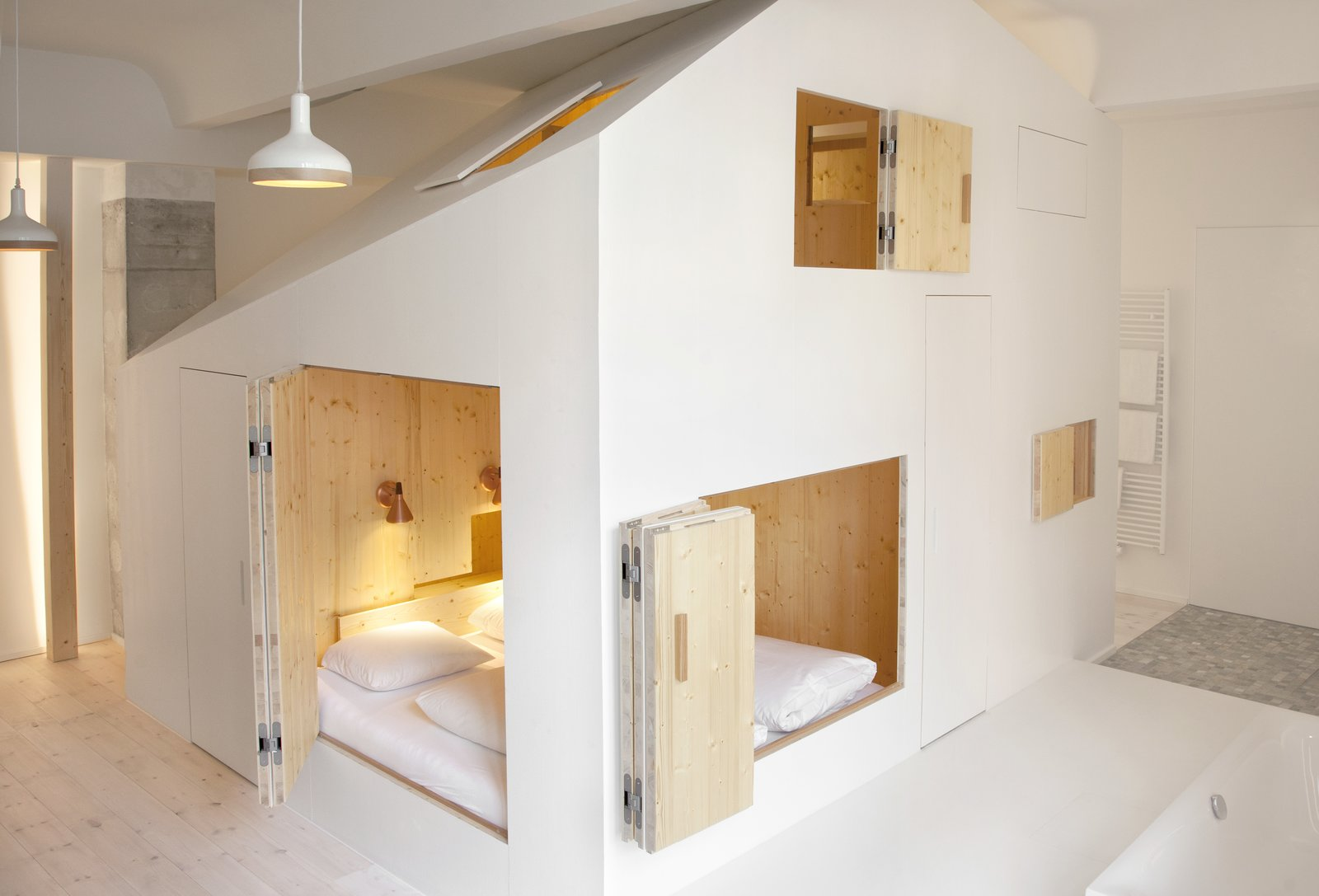 Room 304-the House of Doors Michelberger Hotel, Berlin. By Sigurd Larsen pp 104-105  Photo 2 of 15 in Gestalten's New Book Shows How to Transform Small Spaces Into Design Marvels