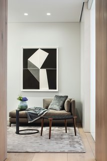 The home has been furnished by DDC, accessorized by Atelier Courbet, and features artwork by Yossi Milo Gallery.