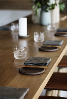 Locally-sourced materials and local craftsmanship were integral to the restaurant's design.